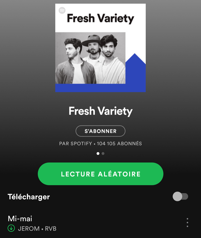 Playlist Spotify Fresh Variety